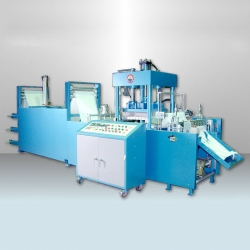 Auto Servo Positioning PU Gloves Pressing Cutting Machine